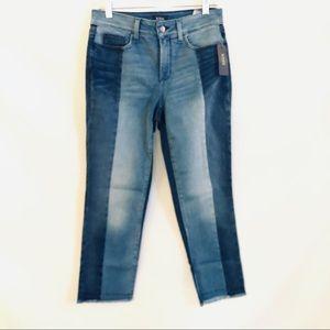 NYDJ SHERI Slim Jean Blue Star Wash Sz 6 NWT